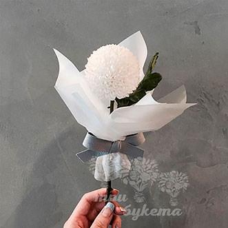Мини-букет из хризантемы Пингпонг